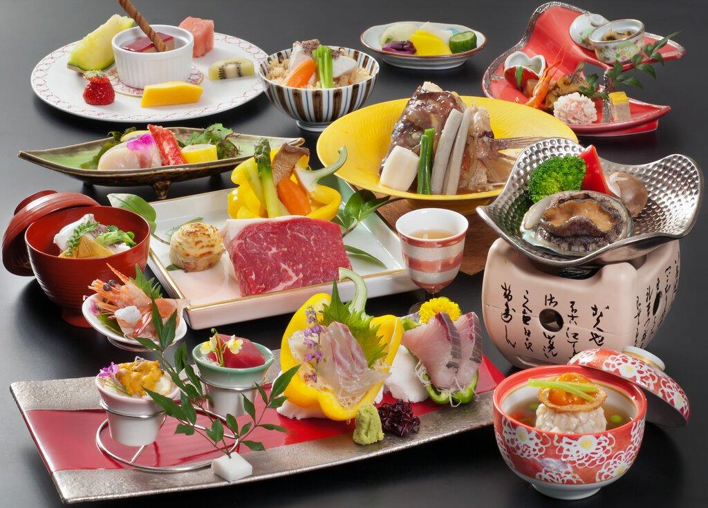 【特級】國產牛牛排・酒蒸鮑魚・真鯛生魚片
